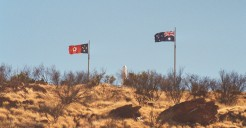 Anzac Hill to the left